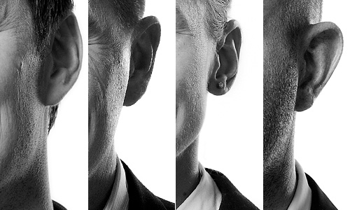 Comparison of the effect of rim light in headshot portraits on different skin types