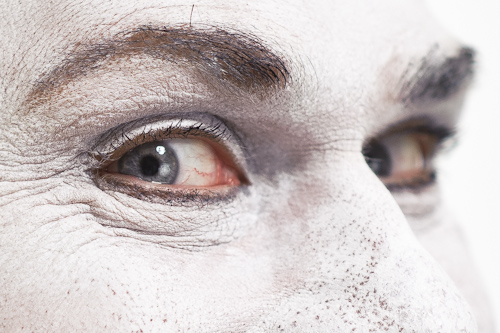 mime portrait eyes closeup