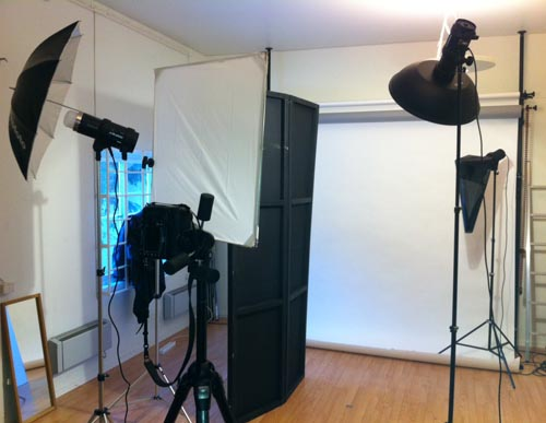 behind the scenes of a standard business portrait