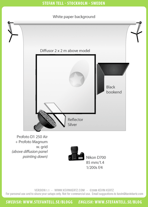 Lighting Setup Diagram - One Light Profoto Magnum Portrait