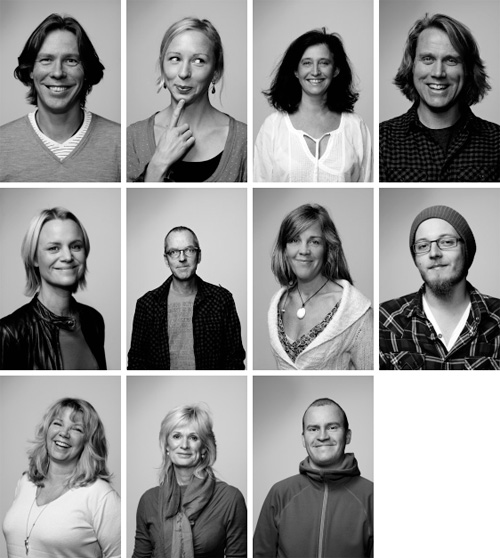 Portraits of my colleagues. Photographer Stefan Tell