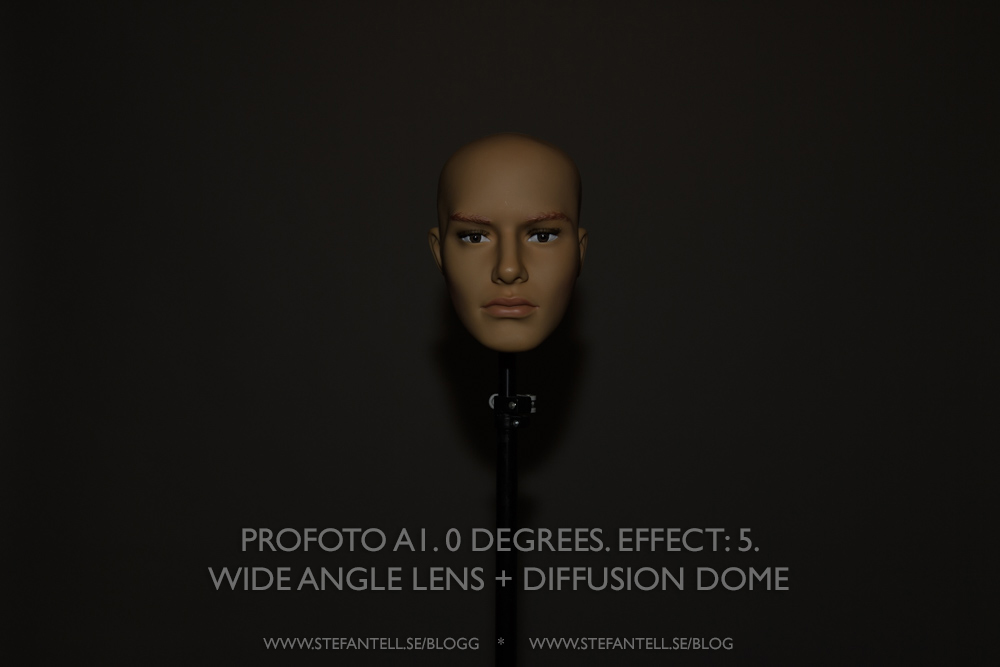 Profoto A1, test with difference settings and modifiers