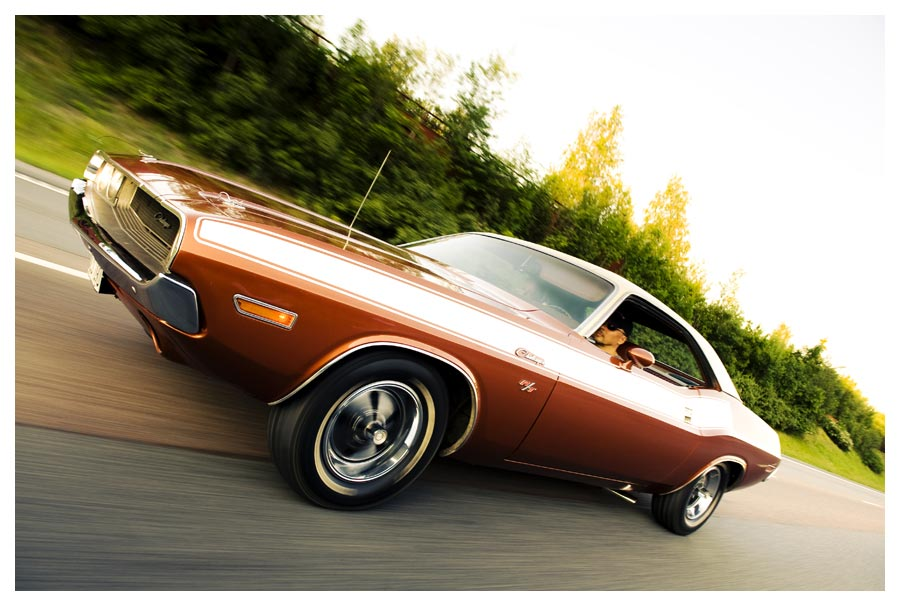 Dodge Challenger. Vintage Muscle Car. Fotograf Stefan Tell