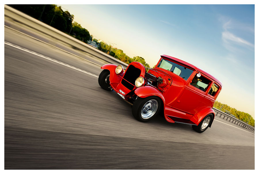 Red Custom Hot Rod. Fotograf Stefan Tell