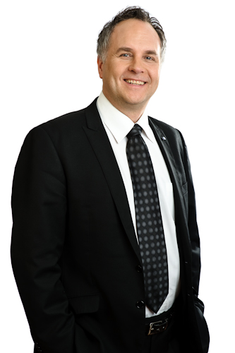 Business portrait of a man on white background