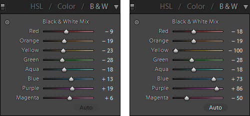 Lightroom-settings-black-and-white-conversion-difference